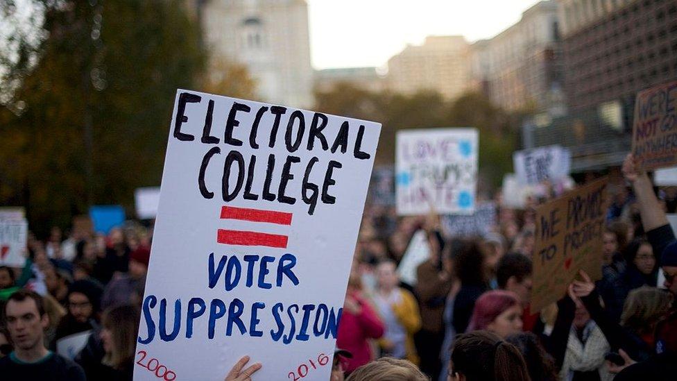 Electoral college protest