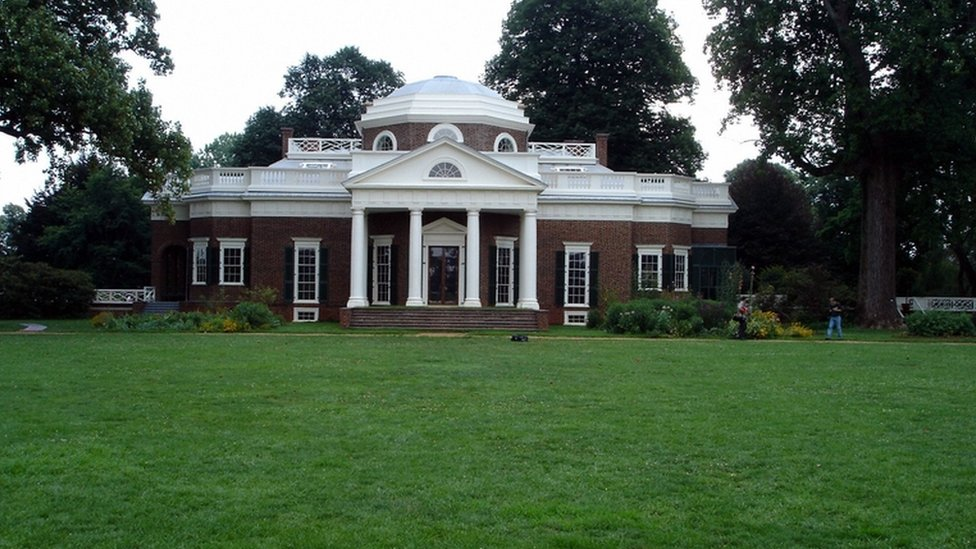Monticello, la casa de Thomas Jefferson en Virginia, Estados Unidos.