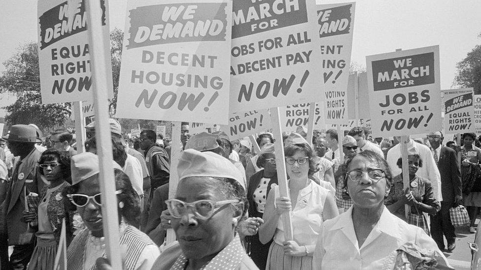 Protesta por la igualdad en EE.UU.