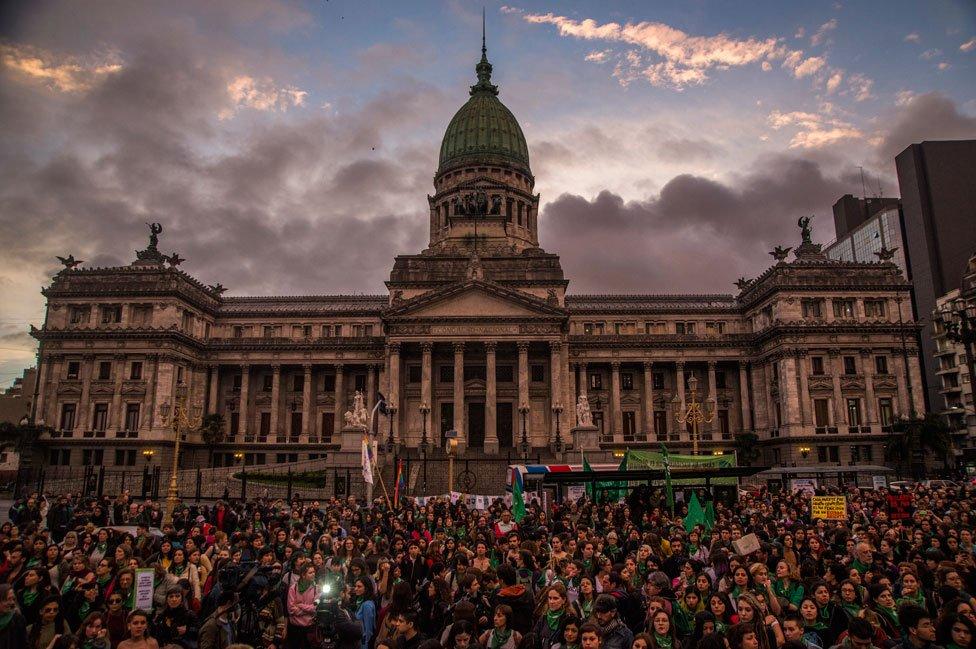 Congreso argentino de fondo a una marcha proaborto