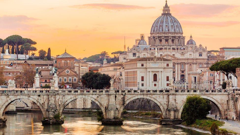 Roma y el Vaticano.
