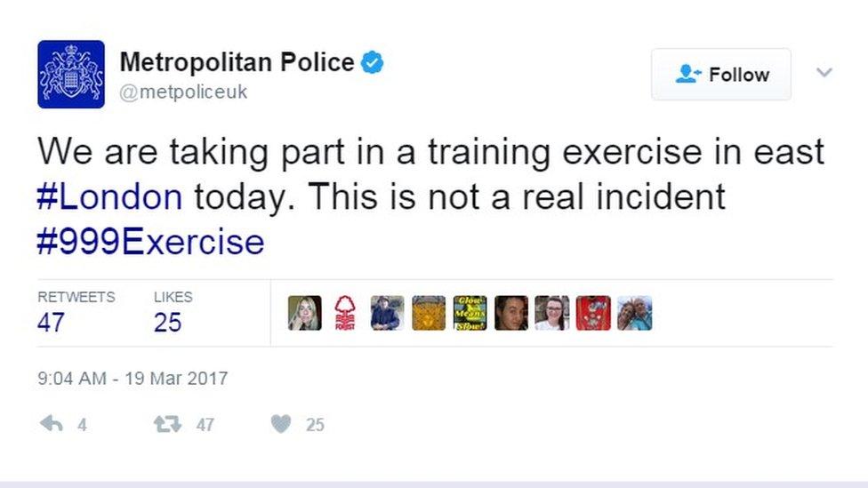 Met Police tweet