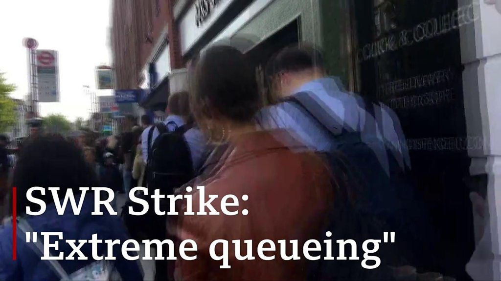 SWR strike: Huge queues outside stations