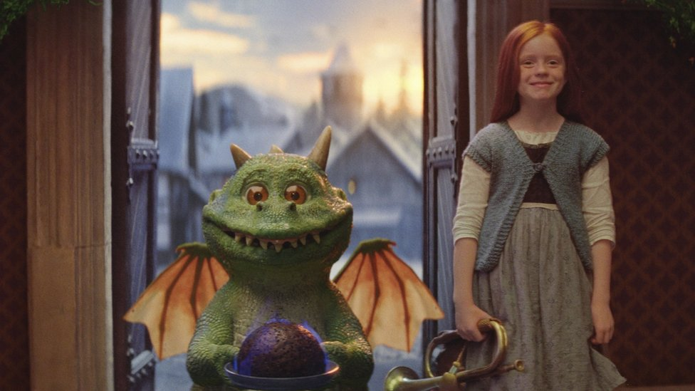 The John Lewis ad features an excitable dragon called Edgar