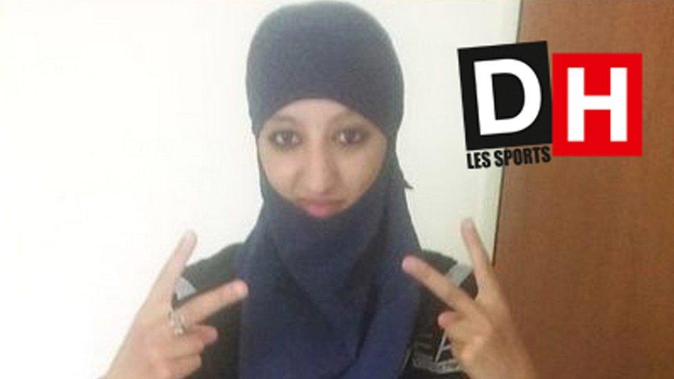 Undated photo of Hasna Ait Boulahcen