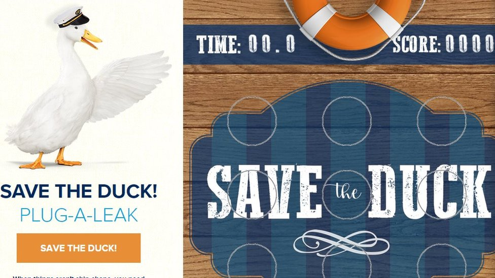 Save the Duck webpage