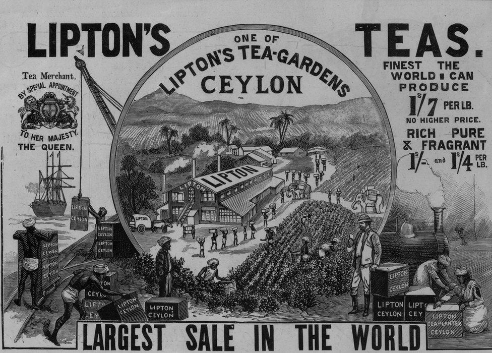 Anuncio de té de Lipton.