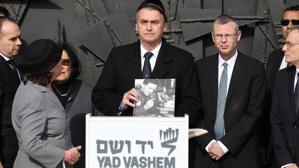 Bolsonaro en Jerusalén