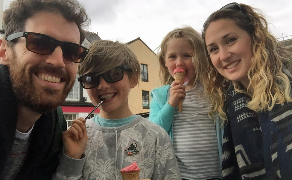 Lucie and her family