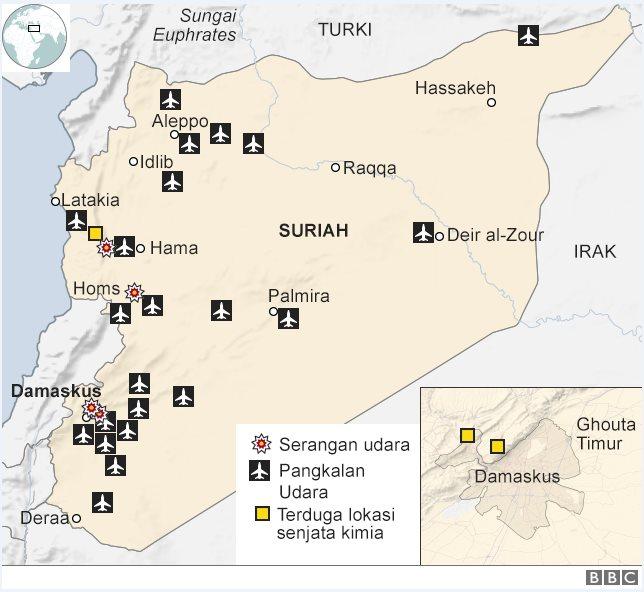 Peta serangan Suriah