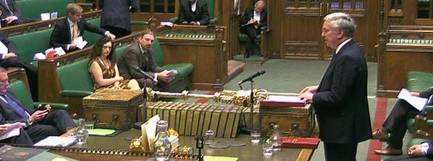Michael Fallon speaking in the House of Commons