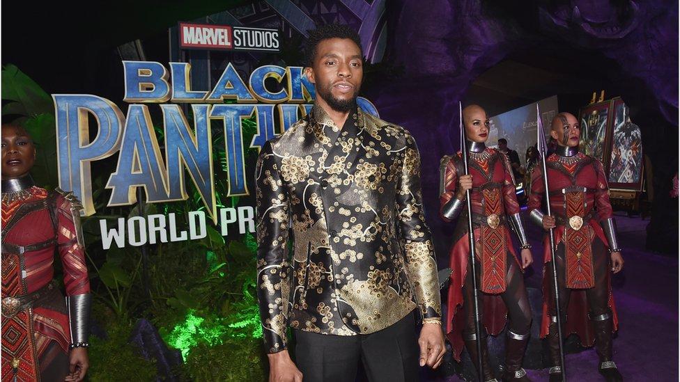 Chadwick Boseman at Black Panther premier