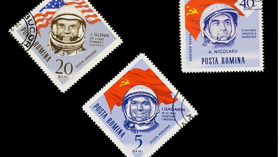 Estampillas de la carrera espacial