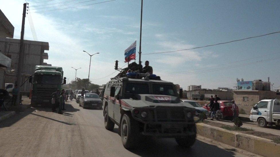 شوهدت الشرطة العسكرية الروسية في منطقة كوباني يوم الأربعاء