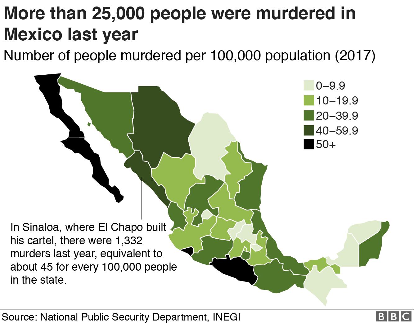 Map of murders