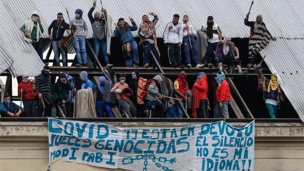 Prisioneros protestan en Buenos Aires