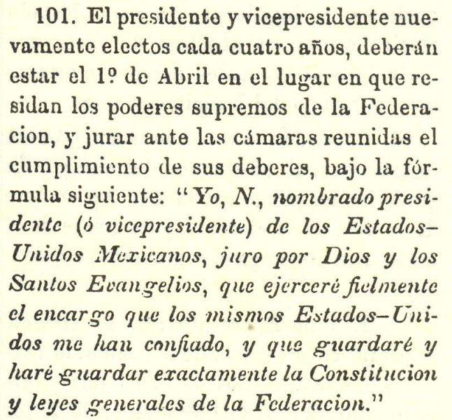 Texto de la Constitución de 1824
