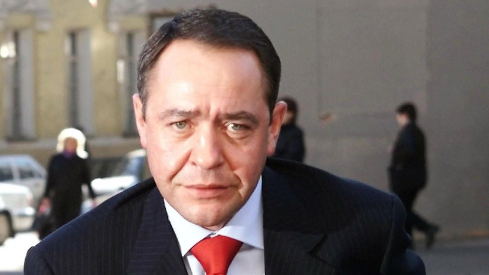 Mikhail Lesin. Photo: March 2002