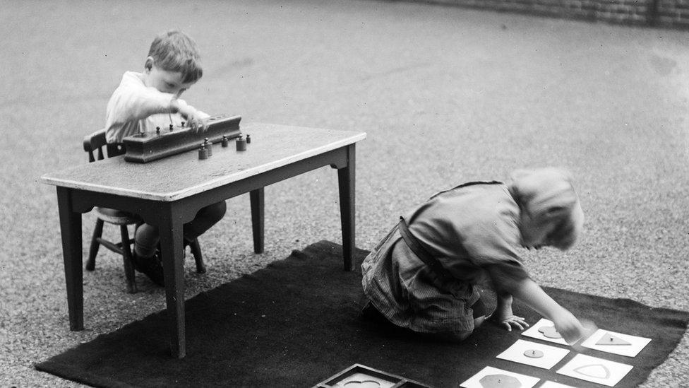 Children practice skills