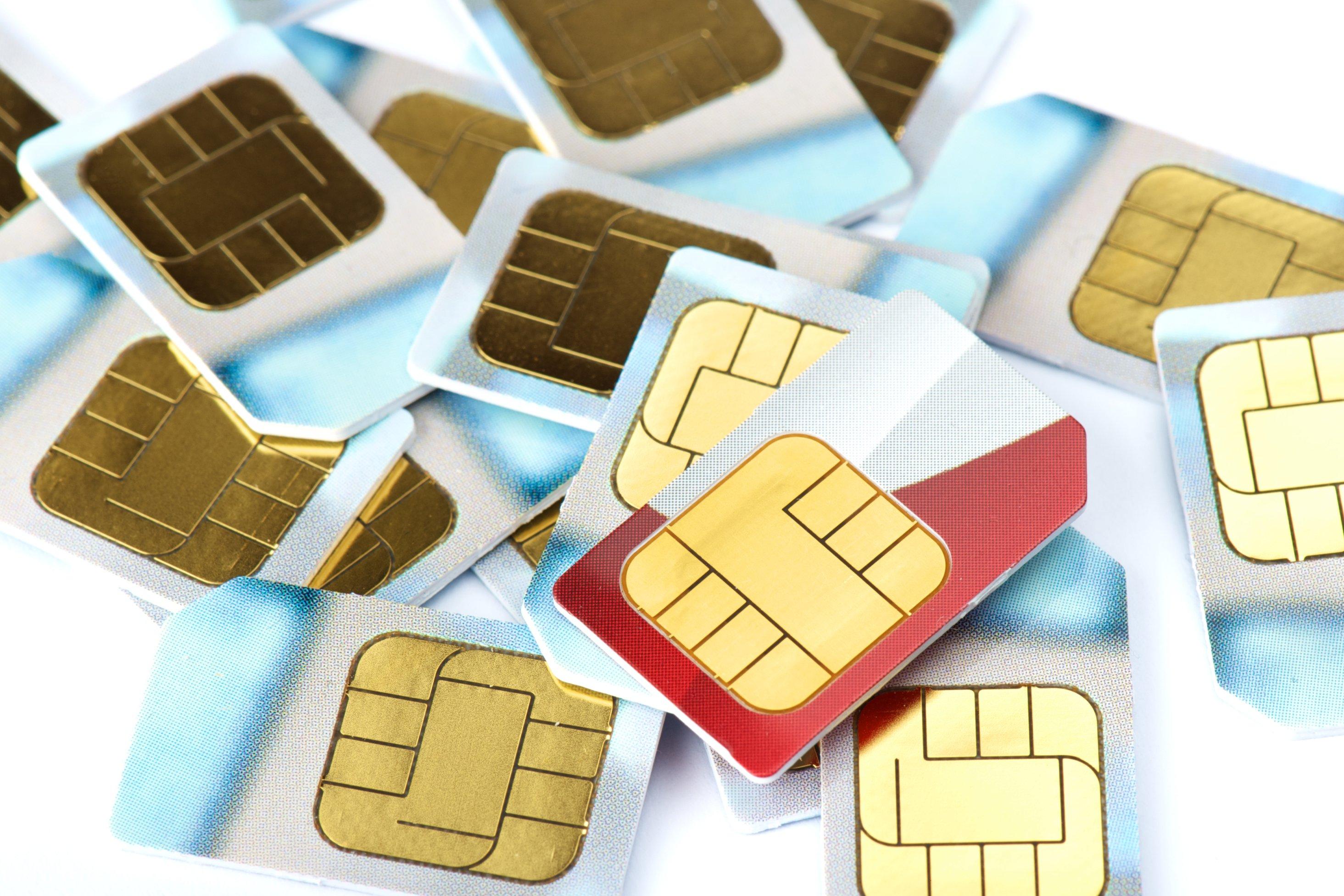 Mobile phone SIM cards