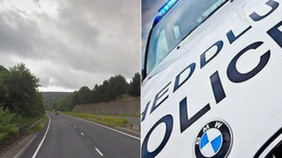 A467 Risa and police car