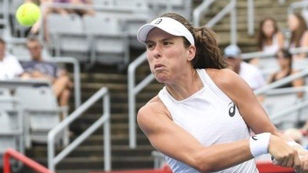 Johanna Konta beats Jelena Ostapenko at Rogers Cup in Montreal