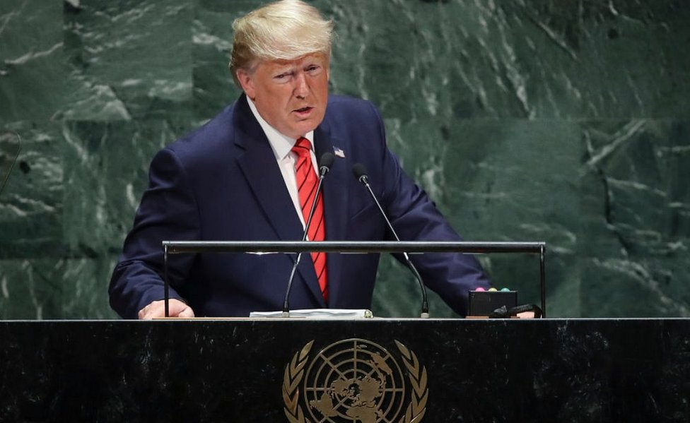 President Trump addressing UN, 24 Sep 2019