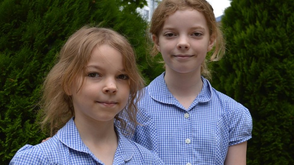 Ella (right) and Caitlin McEwan