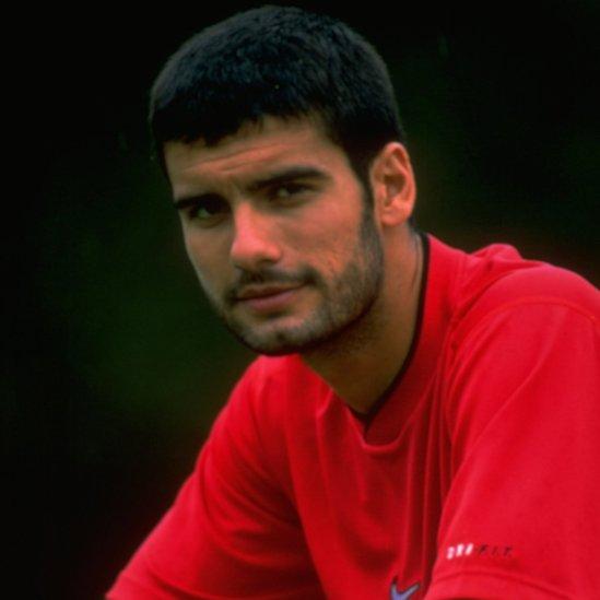 Pep Guardiola en 1997.