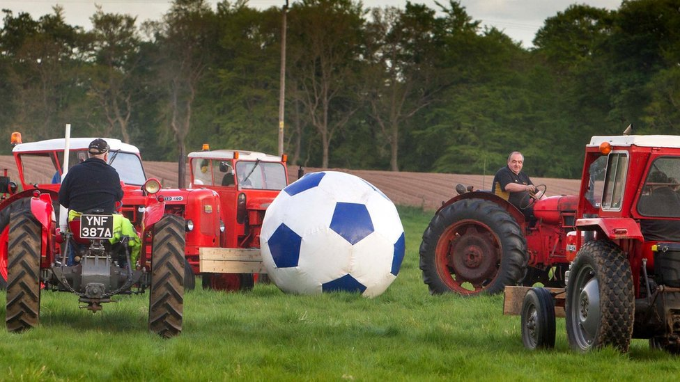 Tractor football takes to the field for Fettercairn tournament