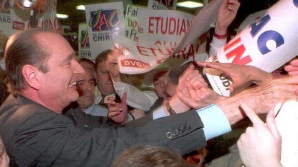 Širak u kampanji pre predsedničkih izbora 1995.