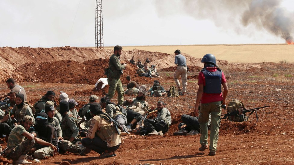 Fighters from Saudi-backed Jaysh al-Islam in Aleppo (file photo)