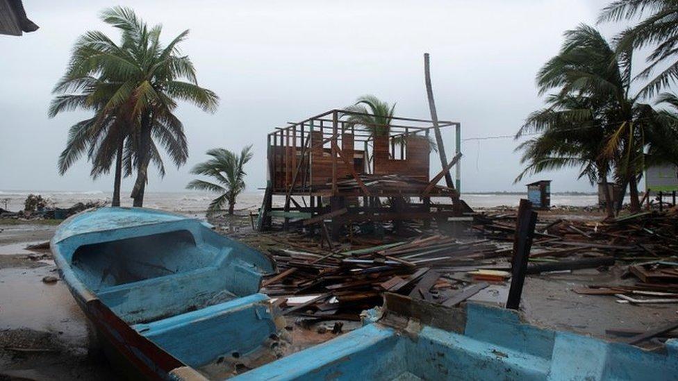 Hurricane Iota: Category four storm hits Nicaragua thumbnail