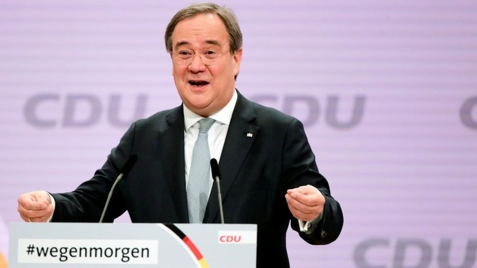 Armin Laschet succeeds Angela Merkel as German CDU party leader