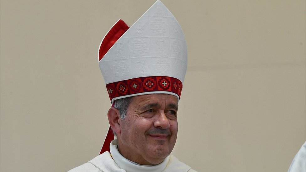 The bishop of Osorno, Juan Barros, pictured on January 18, 2018.