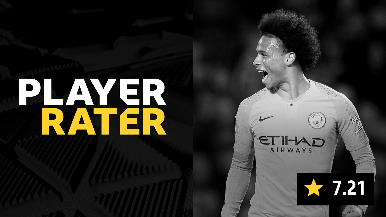 Man Utd 0-2 Man City: Leroy Sane tops ratings