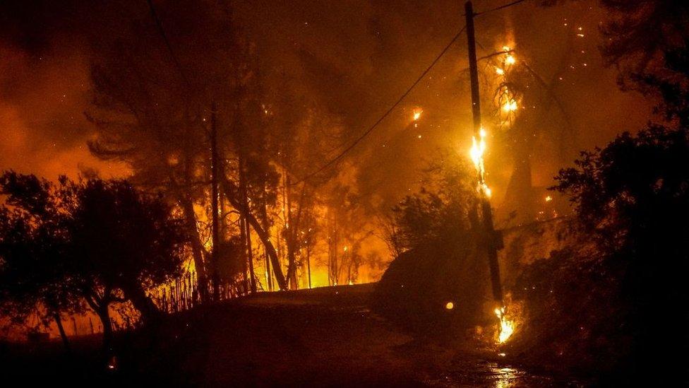 Fuegos Grecia