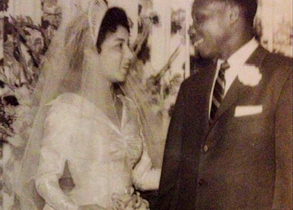 Wedding of Ammiebelle Bush to Babatunde Olatunji in 1957