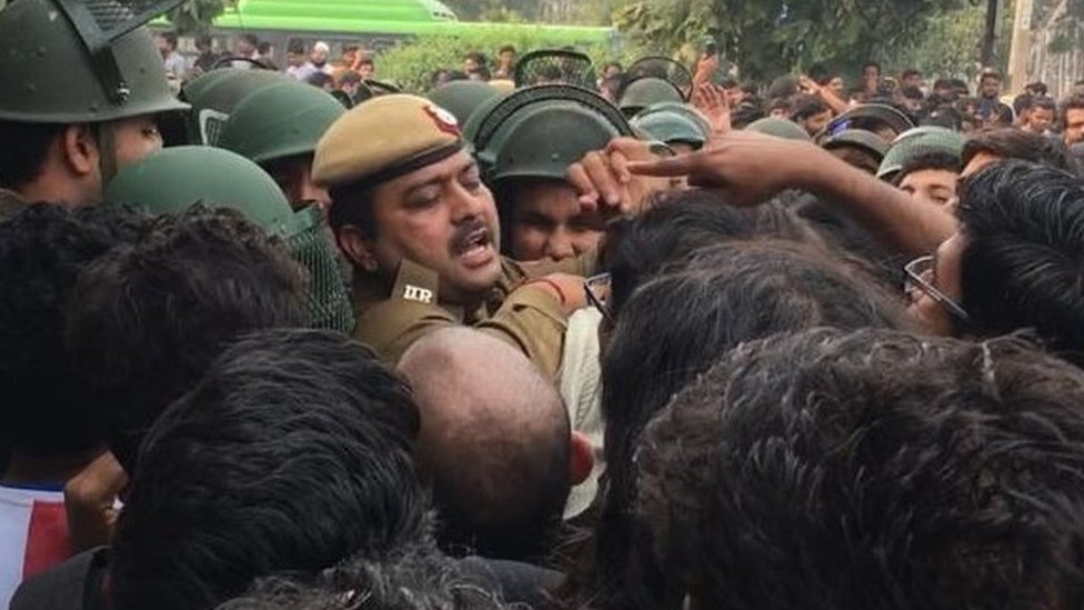 Police clash with students