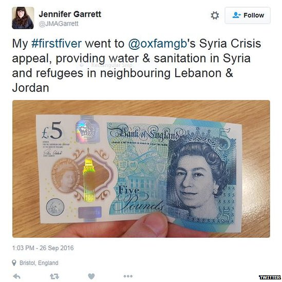 My #firstfiver went to @oxfamgb's Syria Crisis appeal