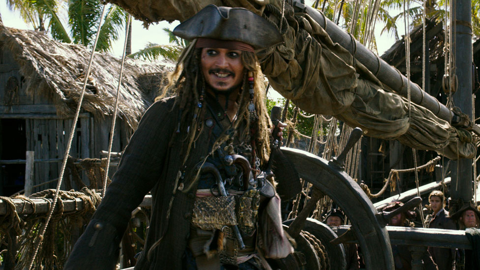 Johnny Depp in Pirates of the Caribbean: Dead Men Tell No Tales