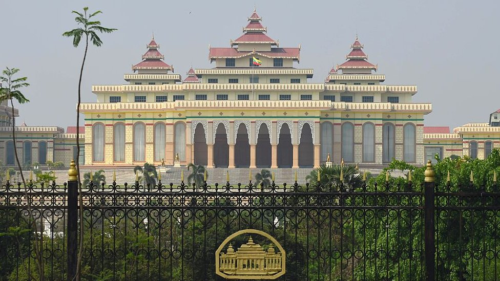 Parliament building in Naypyidaw