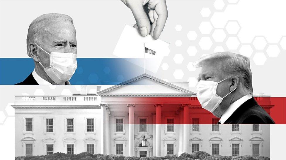 Composición Joe Biden y Donald Trump en la Casa Blanca.
