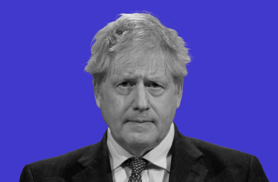 Boris Johnson, treated photo
