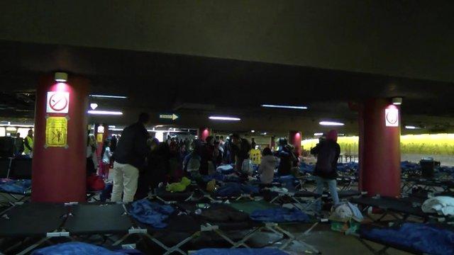 Migrant shelter in Salzburg, Austria