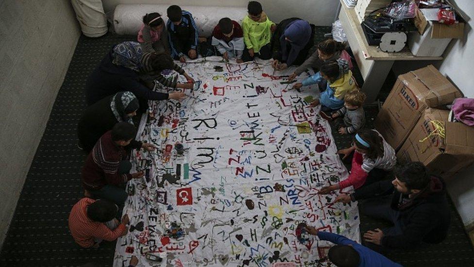 Hatay'da bir yetimhanede kalan Suriyeli çocuklar