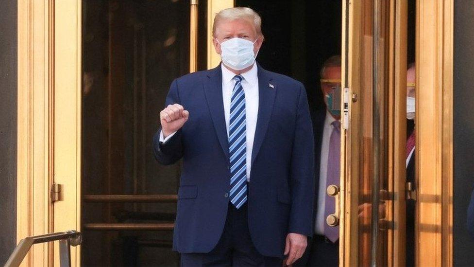 Donald Trump leaves Walter Reed hospital