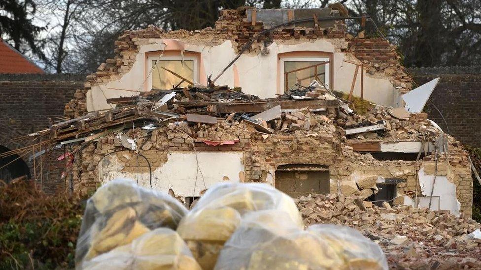 Casa demolida en Manheim.