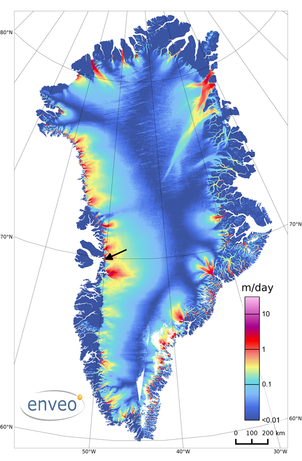 Static map of Greenland
