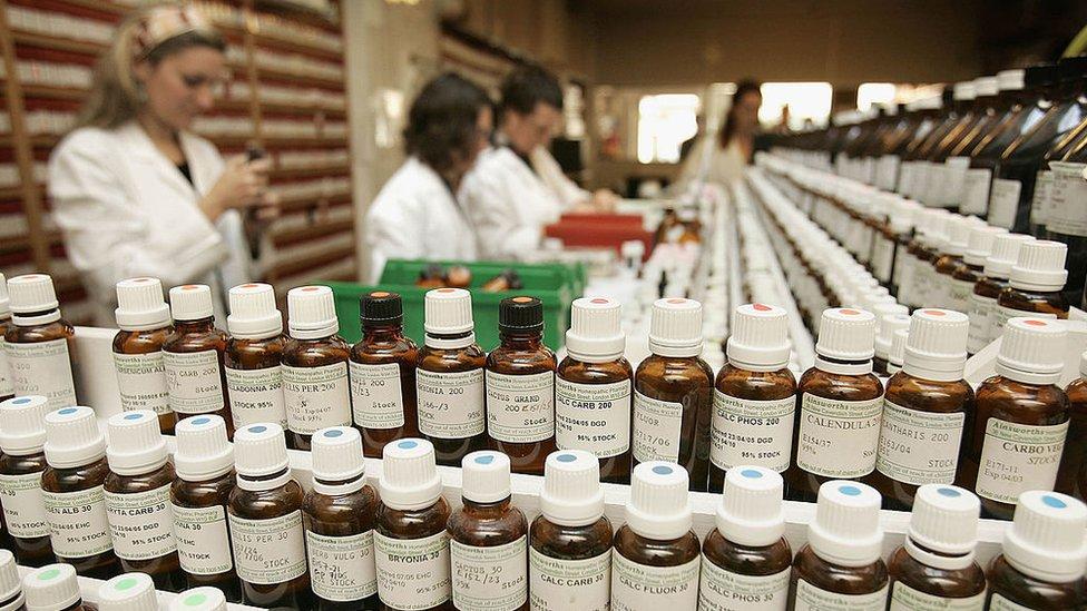 Una tienda de productos homeopáticos